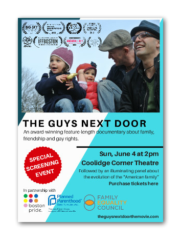 THE GUYS NEXT DOOR - A special screening event at Coolidge Corner Theatre